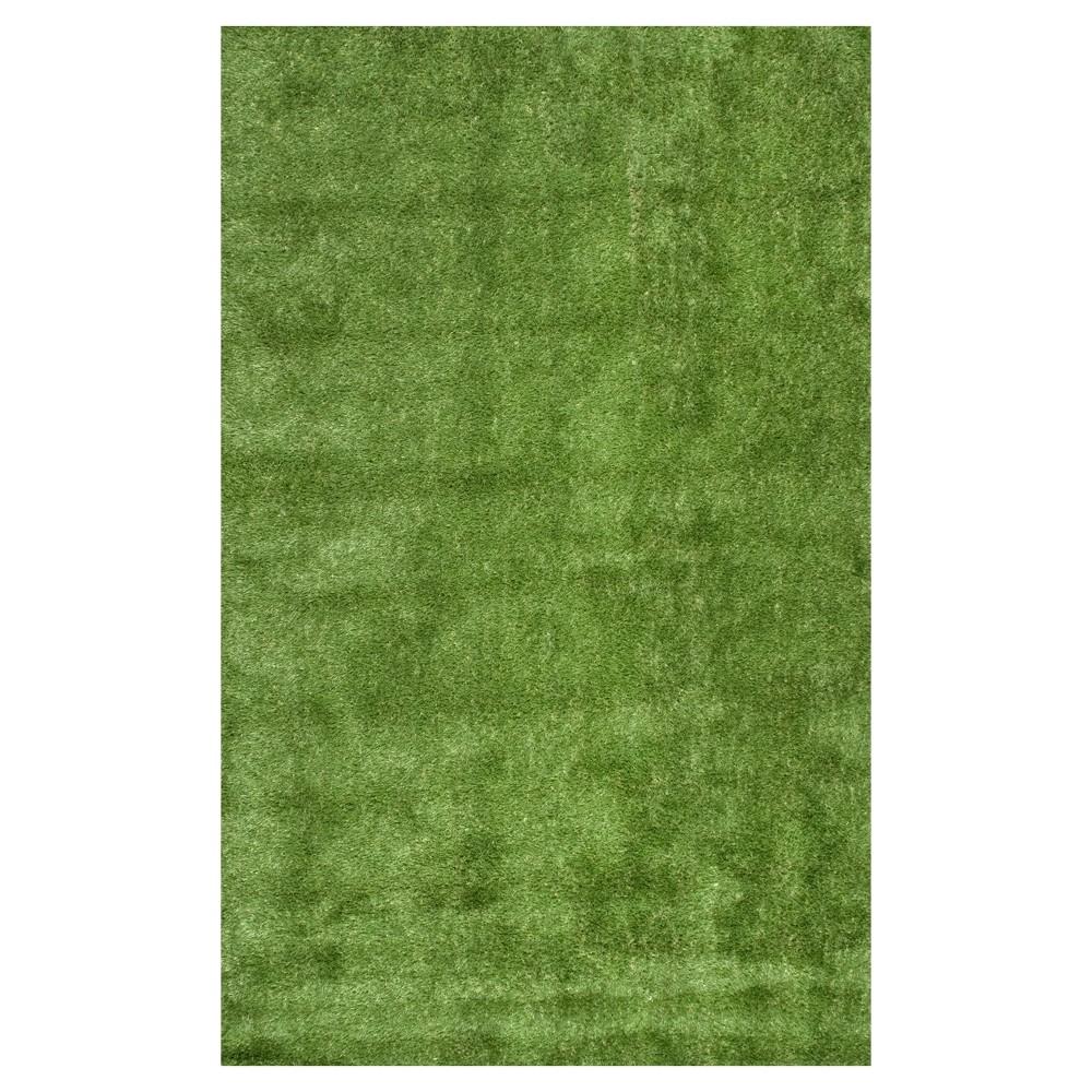 Green Solid Loomed Area Rug - (5'x8') - nuLOOM