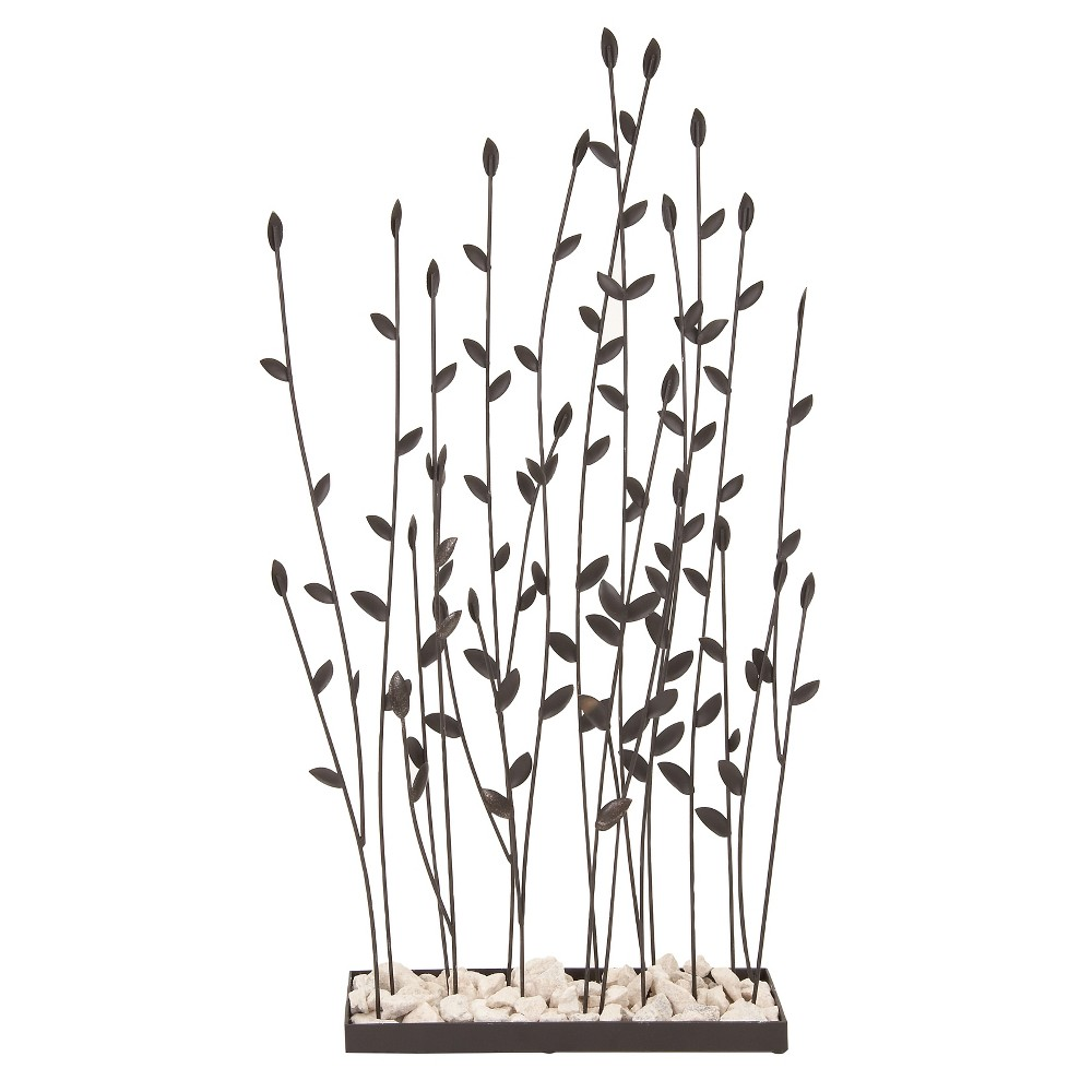 Decorative Sculpture Stems with Leaf - Black - Olivia & May, Gray