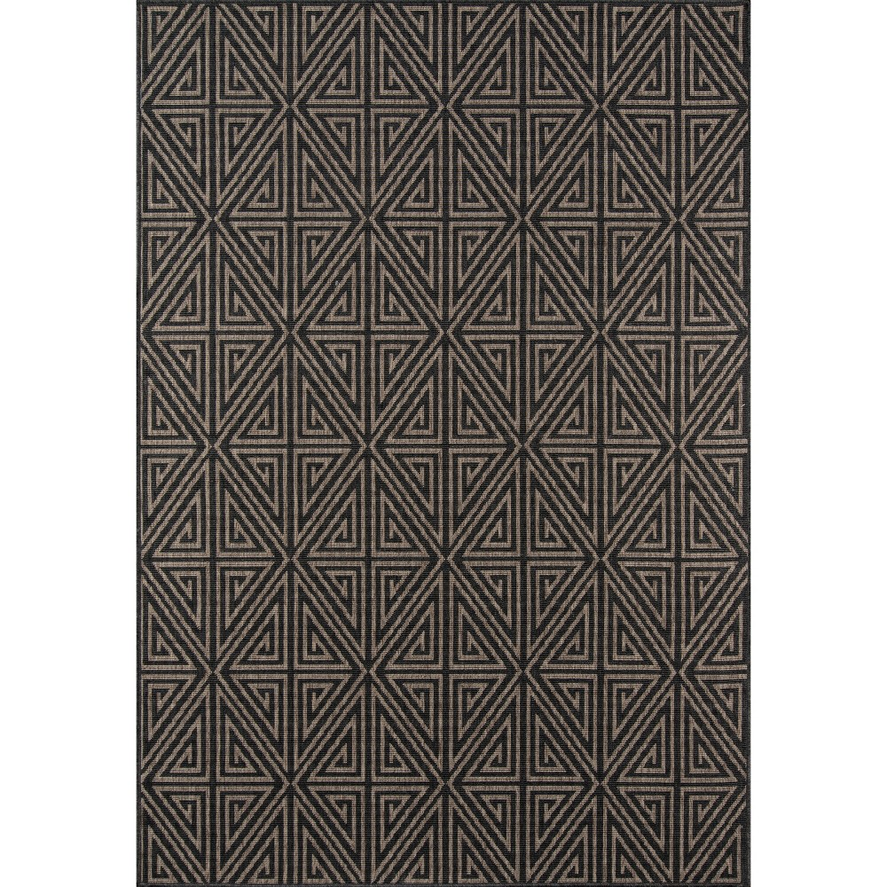 9'X13' Diamond Area Rug Charcoal (Grey) - Momeni