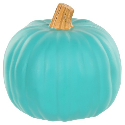 "Halloween Medium Teal Craftable Pumpkin 9"" - Hyde and Eek! Boutique™ - image 1 of 1"