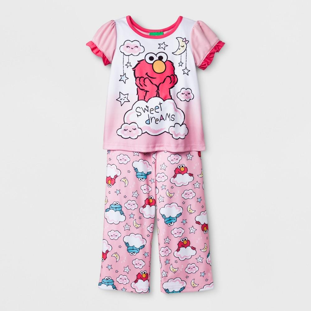 Toddler Girls' Sesame Street 2pc Pajama Set - Pink 2T