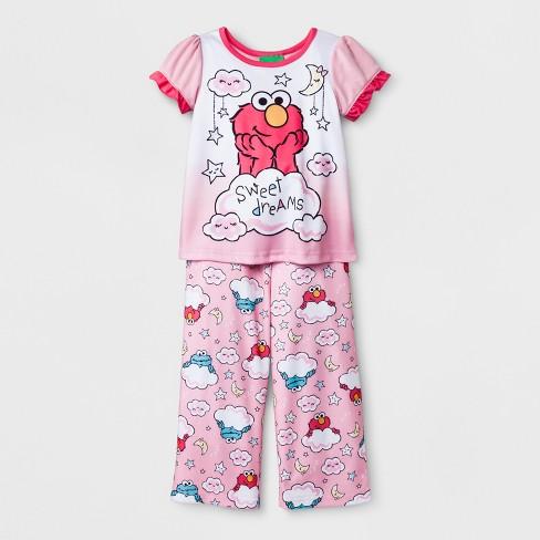 0cc3b29f6e573 Toddler Girls' Sesame Street 2pc Pajama Set - Pink : Target
