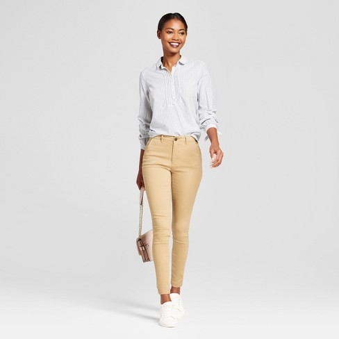 76b2f5dcb42a Women's Skinny Chino Pants - A New Day™ Tan 18. Shop all A New Day