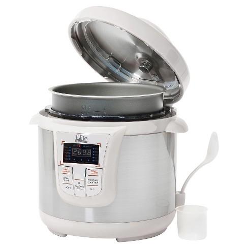 Elite Platinum Stainless Steel Electric Pressure Cooker 8 Qt