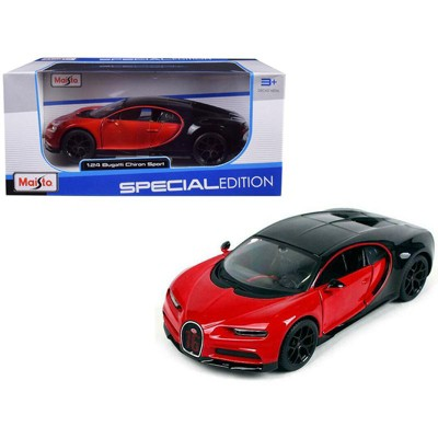 "Bugatti Chiron Sport ""16"" Red and Black ""Special Edition"" 1/24 Diecast Model Car by Maisto"