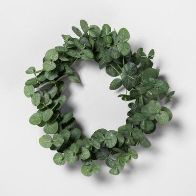 """7.5"""" Mini Faux Eucalyptus Wreath - Hearth & Hand™ with Magnolia"""