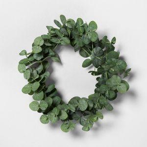 7 5 Mini Faux Eucalyptus Wreath Hearth Hand With Magnolia Target