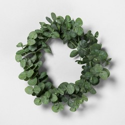 "7.5"" Mini Faux Eucalyptus Wreath - Hearth & Hand™ with Magnolia"