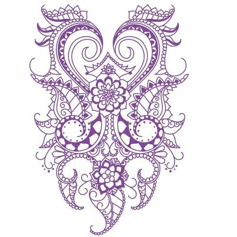 Roylco Henna Designs Rubbing Plates, 7 x 10 in, set of 6 - image 1 of 6