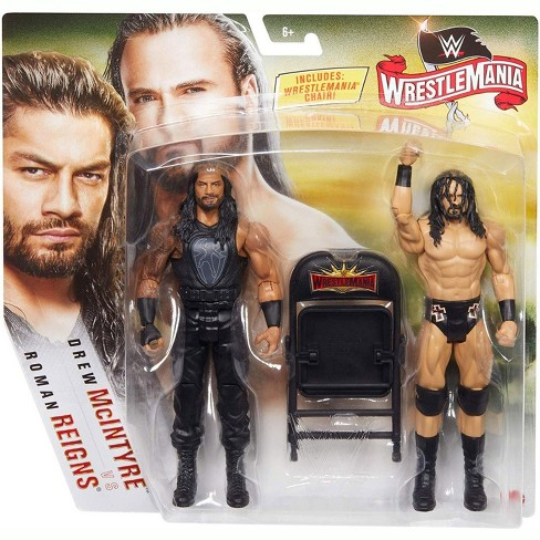 WWE Wrestling Battle Pack WrestleMania 36 Drew McIntyre and Roman Reigns Action Figure 2-Pack - image 1 of 3