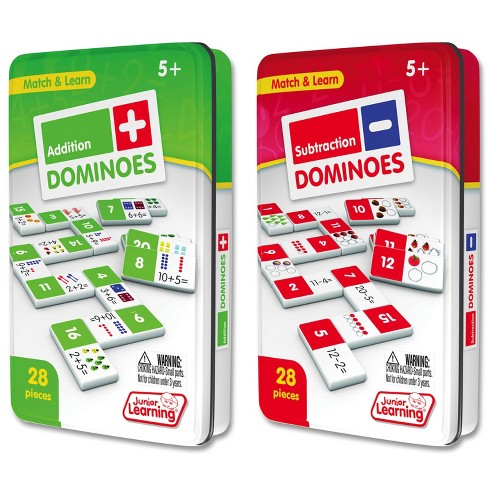 Junior Learning Addition and Subtraction Dominoes Game Set - 56 Dominoes - image 1 of 4
