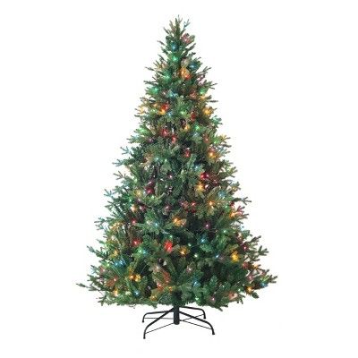 Kurt Adler 7' Pre-Lit Multi-Color Incandescent Jackson Pine Tree