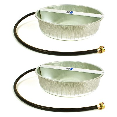 Little Giant 13-Quart Galvanized Steel Ever Full Pet Water Bowl Dish (2 Pack)