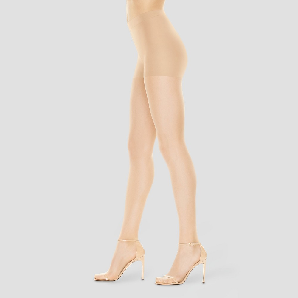 Hanes Premium Women's Perfect Nudes Control Top Silky Ultra Sheer Pantyhose - Transparent S