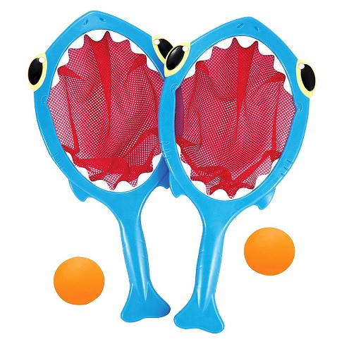 Melissa & Doug® Sunny Patch Spark Shark Toss and Catch Net Pool Game With 2 Balls - image 1 of 2