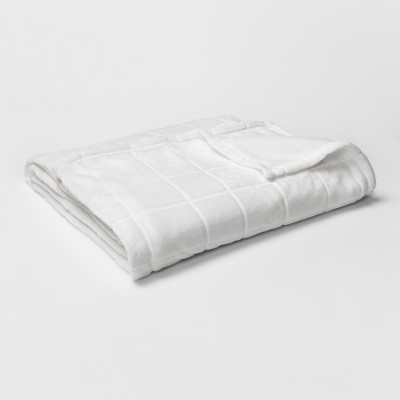 Micromink Plush Blanket (King)White - Room Essentials™