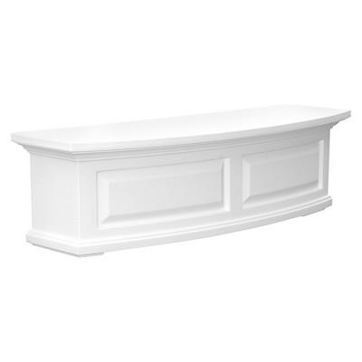 3' Nantucket Rectangular Window Box White - Mayne