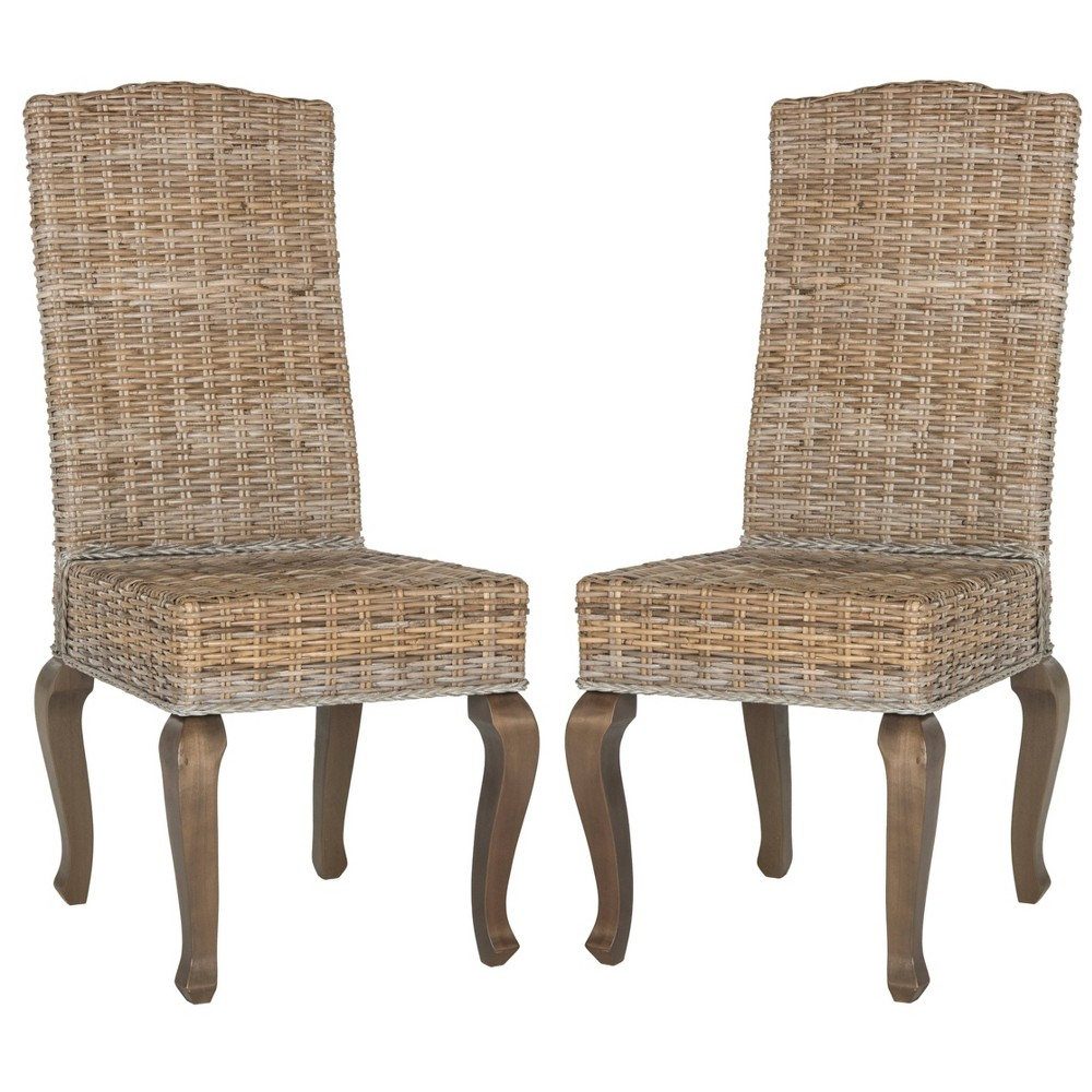 Milos Wicker Dining Chair (Set of 2) - Safavieh, Natural
