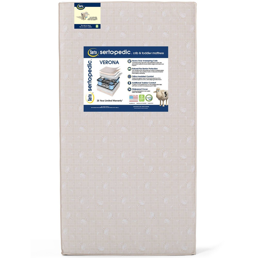 Serta Sertapedic Verona Innerspring Crib & Toddler Mattress - Tan