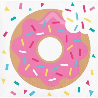 """48ct """"Donut Time"""" Beverage Napkins"""