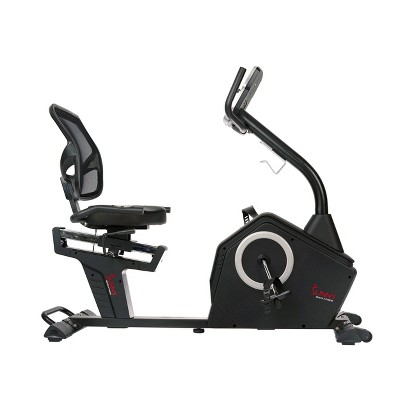 Sunny Health & Fitness Programmable Recumbent Bike - Black