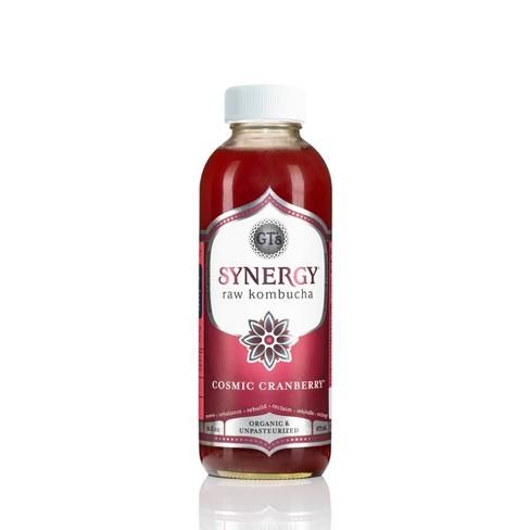 GT's Synergy Cosmic Cranberry Organic Kombucha - 16 fl oz Bottle - image 1 of 4