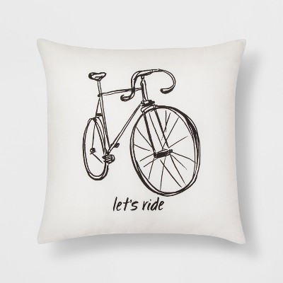 Let's Ride  Bike Throw Pillow - Room Essentials™