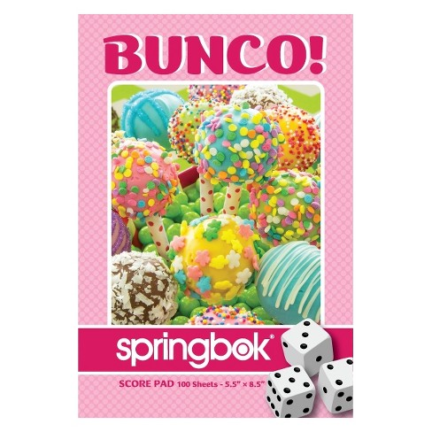 Springbok Cake Pops Bunco Score Pads Playing Cards Game Accessory - image 1 of 1
