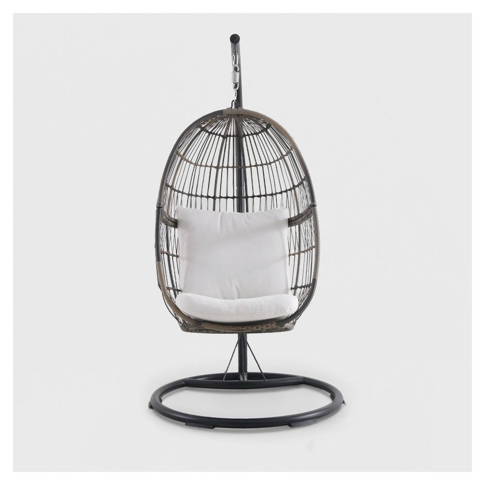 Image of Hanging Patio Egg Chair Brown - Royal Garden