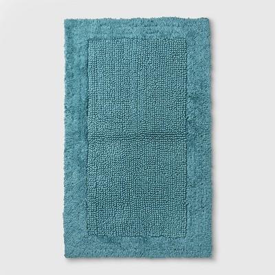 38 x23  Performance Textured Bath Rug Teal - Threshold™