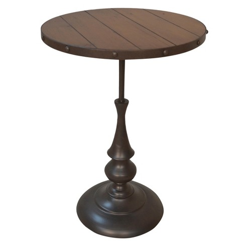 Craton Accent Table - Chestnut/Industrial - Carolina Chair and Table - image 1 of 2