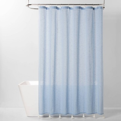 Textured Shower Curtain Blue - Threshold™