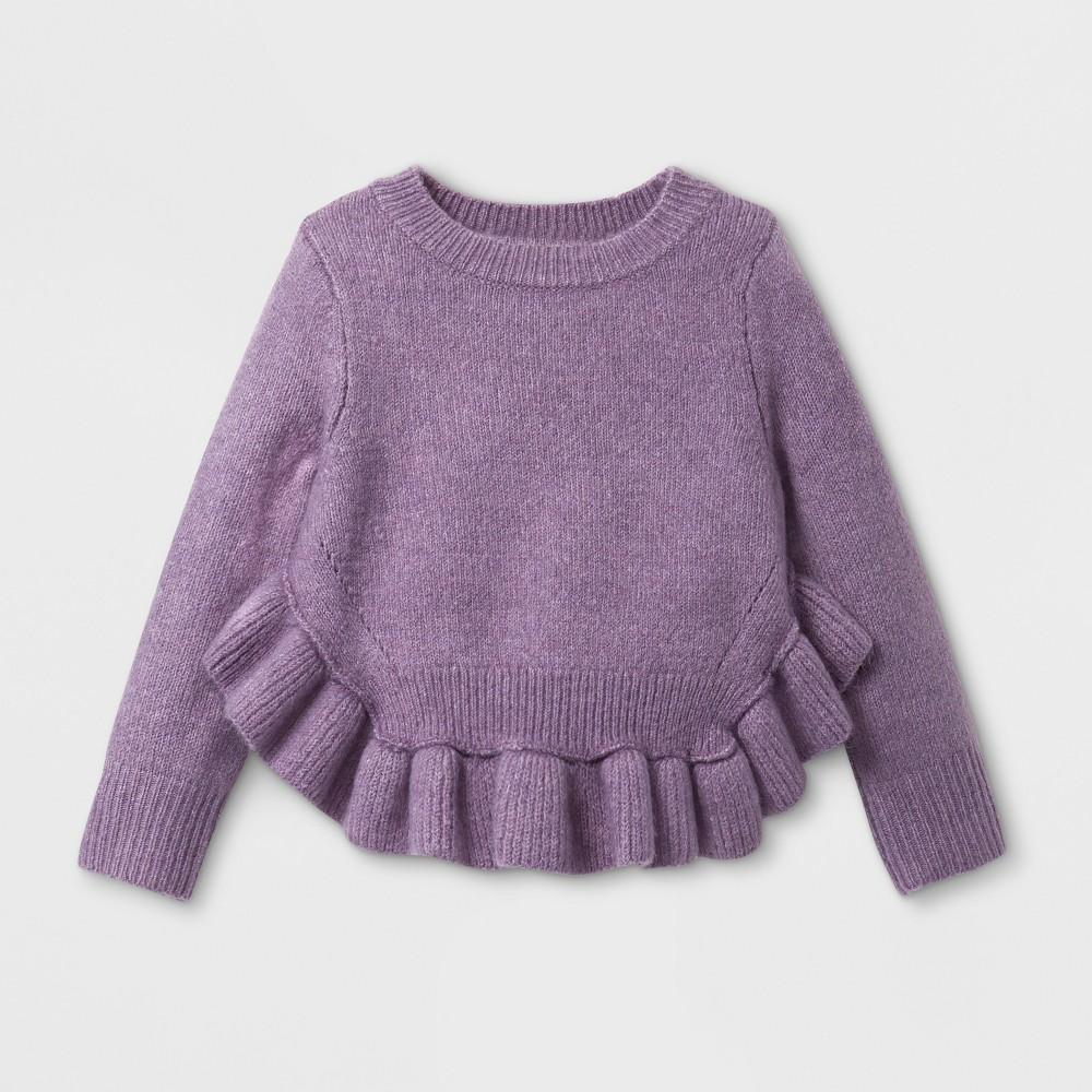 Toddler Girls' Ruffle Pullover Sweater - Genuine Kids from OshKosh Violet (Purple) 18M