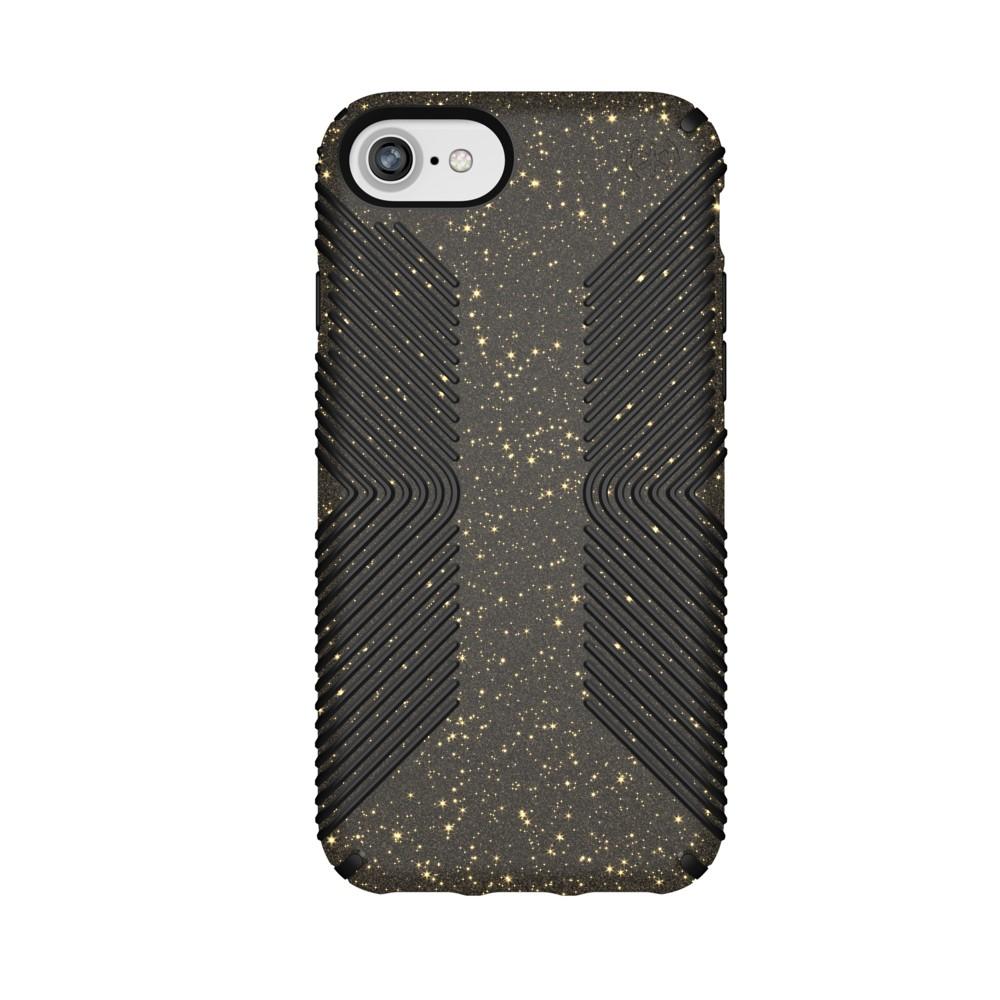 Speck Apple iPhone 8/7/6s/6 Presidio Grip Case - Black/Gold Glitter, Gold Black
