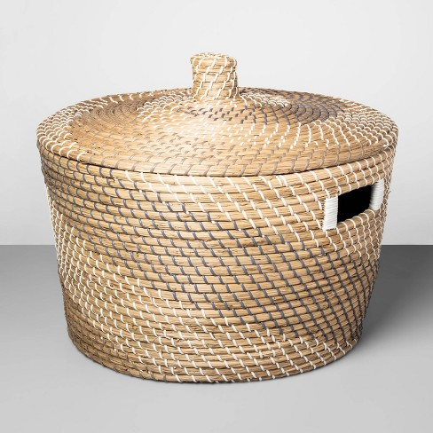 "Decorative Coiled Basket with Lid 12""x20"" - Opalhouse™ - image 1 of 2"
