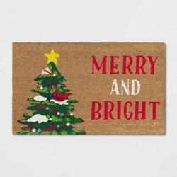 """1'6""""X2'6""""/18""""X30"""" Christmas Pine Tree Doormat Green - Wondershop™"""