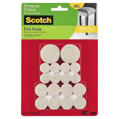 Scotch® Beige Felt Pad Value Pack