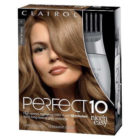 Nice N Easy Clairol Perfect 10 Permanent Hair Color 7 Dark Blonde