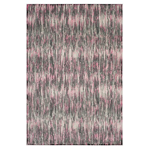 Gray/Pink Herringbone Loomed Area Rug 4'X6' - Safavieh - image 1 of 4