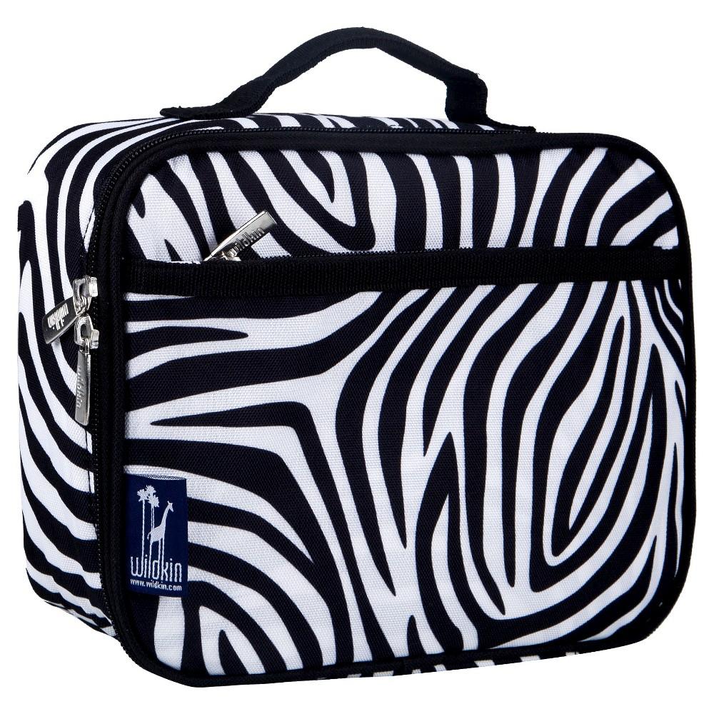 Wildkin Zebra Lunch Box, Black/White