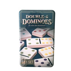 Game Gallery Double 6 Color Dot Dominoes, Adult Unisex