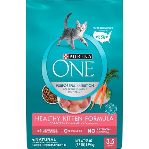 Purina ONE Healthy Kitten Formula Premium Dry Cat Food - 3.5lbs - image 1 of 4