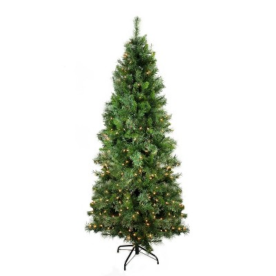 Northlight 7.5' Prelit Artificial Christmas Tree Mixed Cashmere Pine Medium - Clear Lights