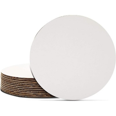 Juvale 12 Pack Round Cake Boards, Cardboard Cake Circle Bases (6 Inches, White)