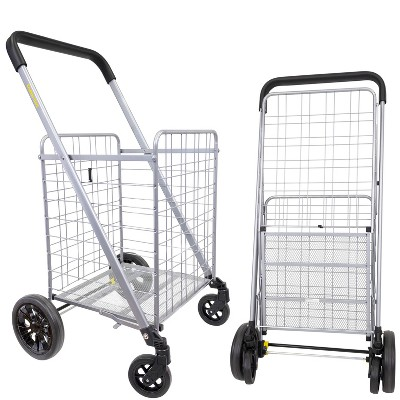 dbest products Cruiser Cart Deluxe Silver