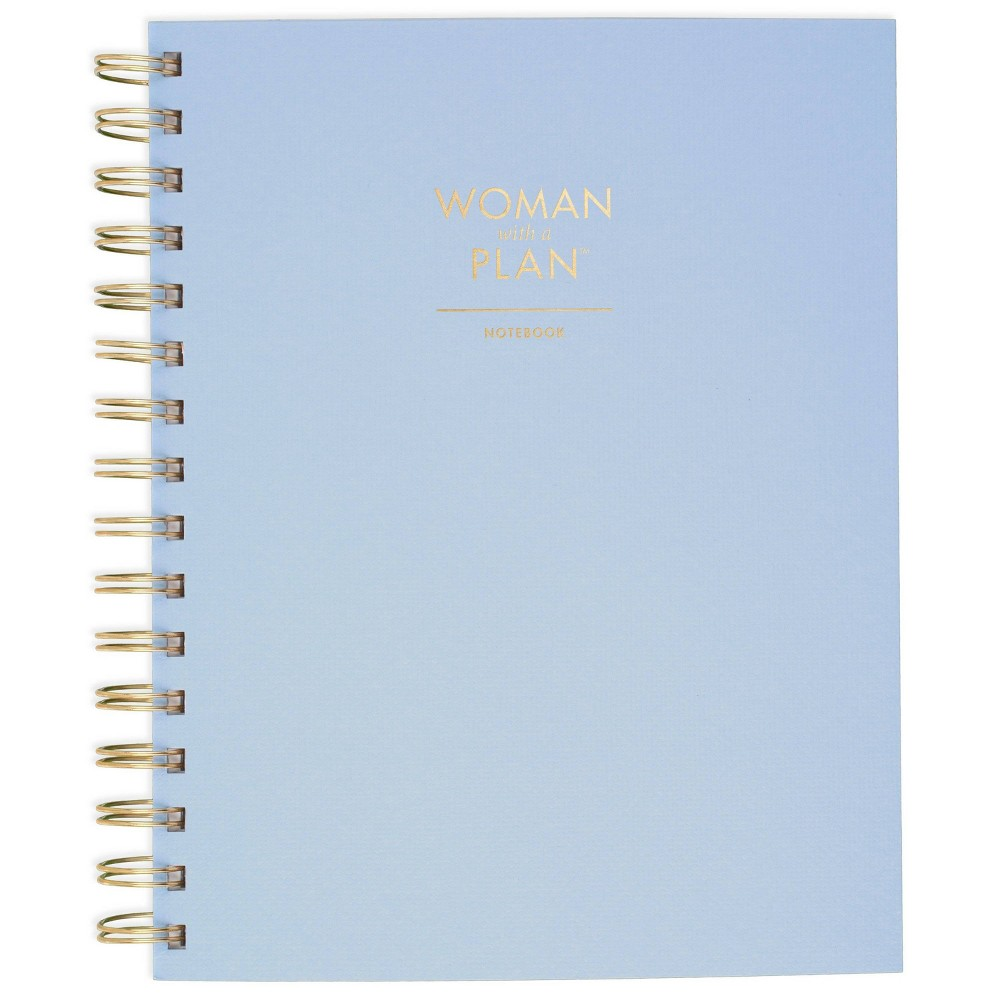 Image of Create & Cultivate Wirebound Spiral Subject Notebook - Blue