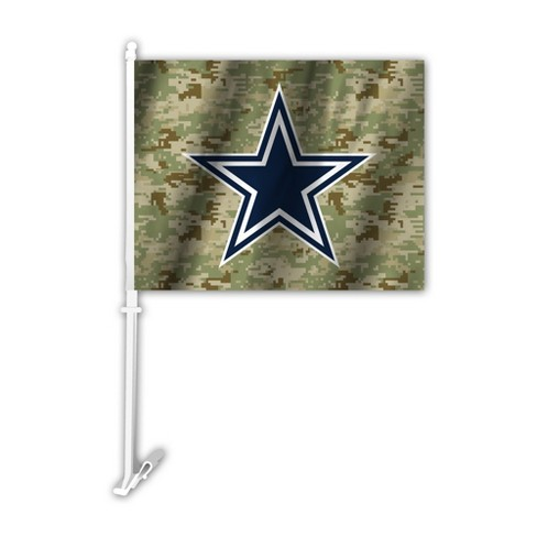 4fd06dd8 NFL Dallas Cowboys Camo Car Flag