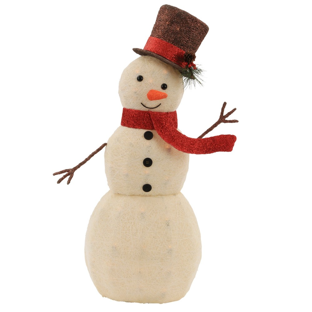 50ct Christmas Incandescent Sisal Snowman with Top Hat - Wondershop, White