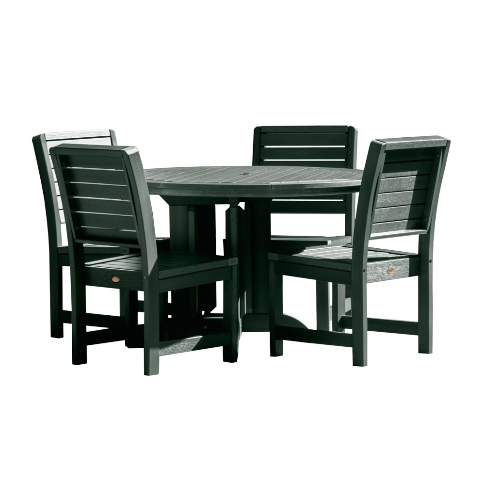 Weatherly 5pc Round Dining Set Charleston Green - Highwood