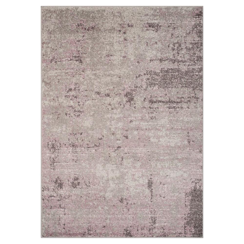 Light Gray/Purple Solid Loomed Area Rug 6'X9' - Safavieh, Purple Gray